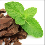 Fresh herb mint and chocolate