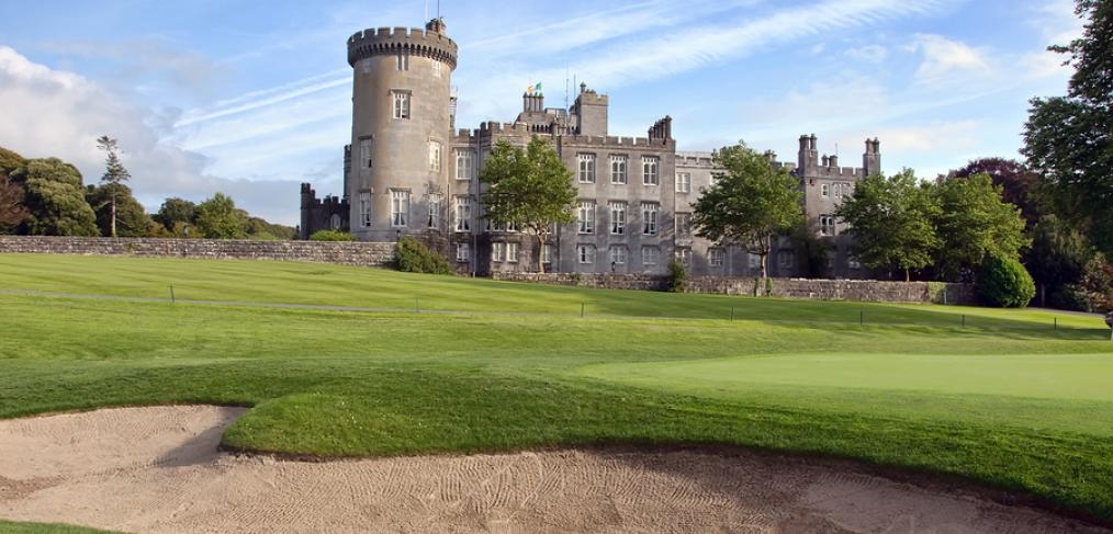 Turfgrass around a castle