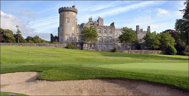 Turfgrass around a castle