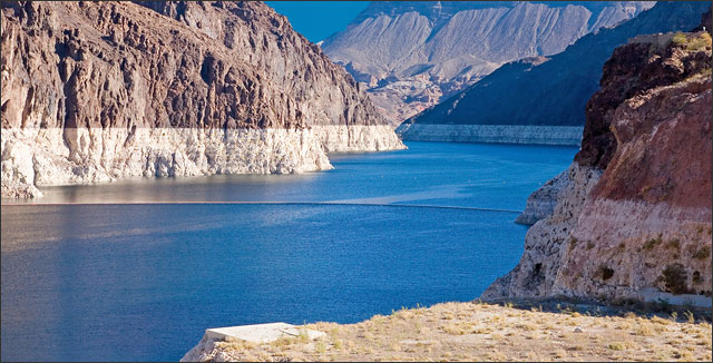 Lake Mead depicting the world's water crisis